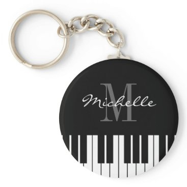 logotees Piano keys keychain for kids, pianist or teacher