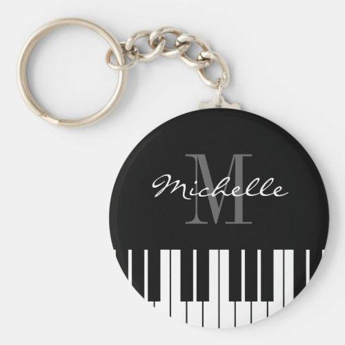 Piano keys keychain for kids pianist or teacher