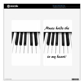 Piano keys kindle fire skins