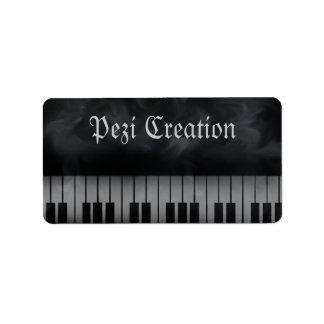 piano keys labels keyboard
