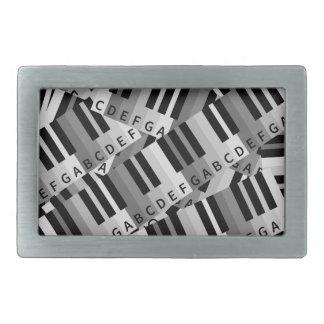 Piano Keys Layered Pattern Belt Buckle