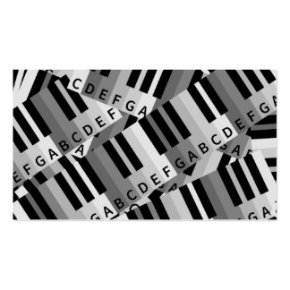 Piano Keys Layered Pattern Business Card