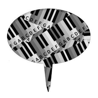 Piano Keys Layered Pattern Cake Picks