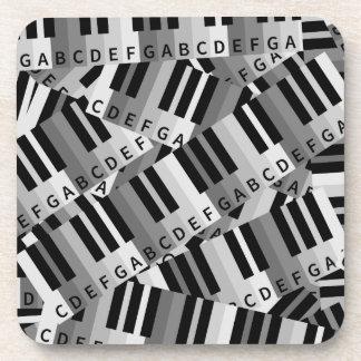 Piano Keys Layered Pattern Drink Coaster