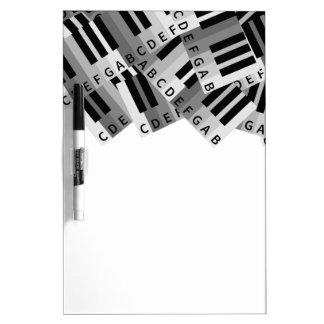 Piano Keys Layered Pattern Dry-Erase Board
