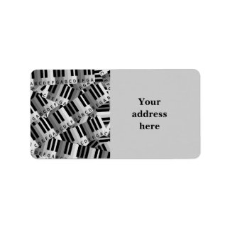 Piano Keys Layered Pattern Label
