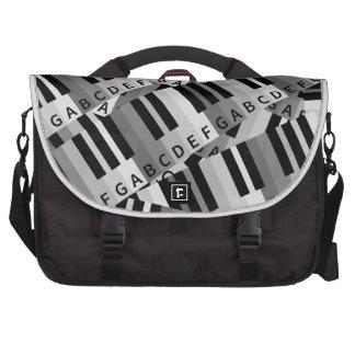 Piano Keys Layered Pattern Commuter Bag