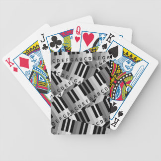 Piano Keys Layered Pattern Bicycle Playing Cards