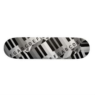 Piano Keys Layered Pattern Skateboard Deck