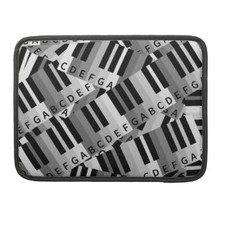 Piano Keys Layered Pattern Sleeve For MacBook Pro