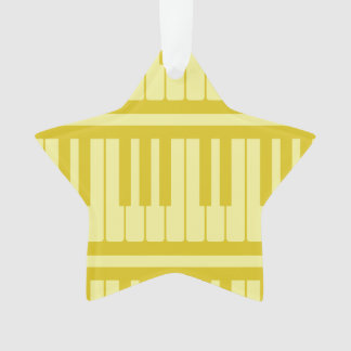 Piano Keys Light Yellow Pattern