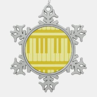 Piano Keys Light Yellow Pattern Ornaments