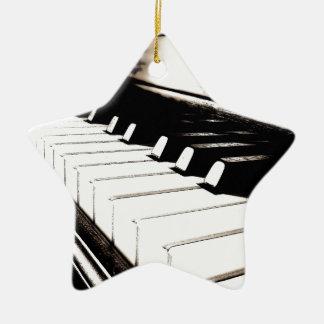 Piano Keys Macro Christmas Ornaments