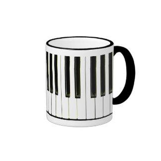 Piano Keys Ringer Coffee Mug