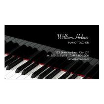 Piano Keys Music business card