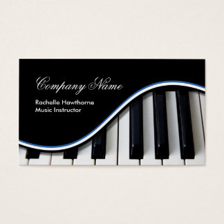 Piano Keys Music Business Cards ~ blue