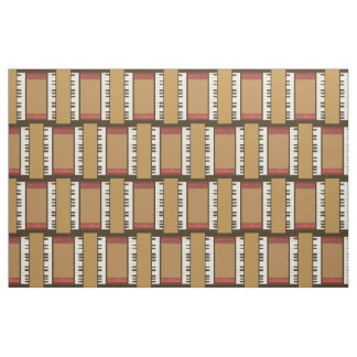 Piano Keys Music Frame Border Fabric