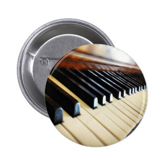 Piano Keys Music Gifts Round Button Pin