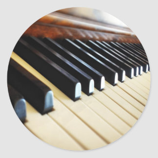 Piano Keys Music Gifts Round Sticker