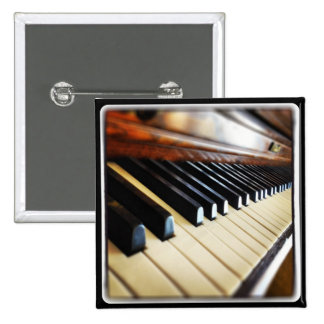 Piano Keys Music Gifts Square Button Pin