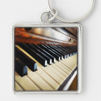 Piano Keys Music Gifts Square Keychain
