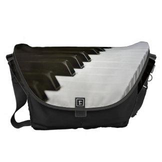 Piano Keys music lover messenger bag L