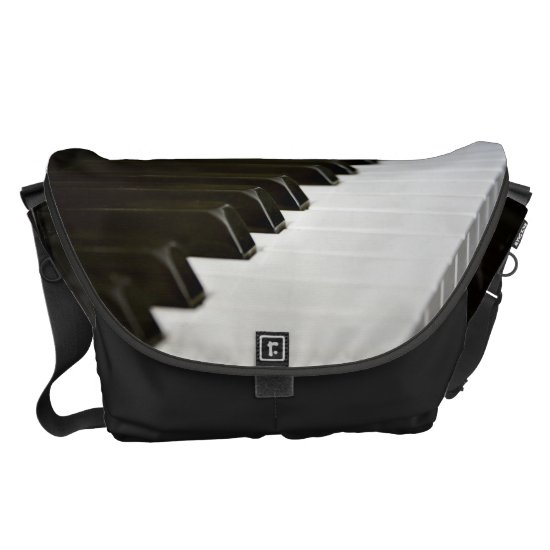 Piano Keys music lover messenger bag L