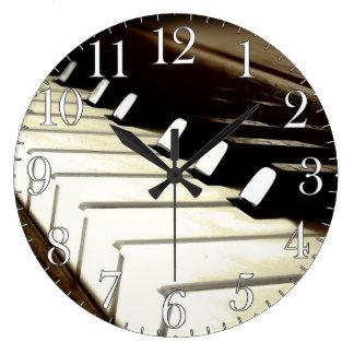 Piano Keys Music-Lover s Wall Clock