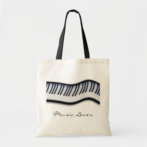 PIANO KEYS Music Lover Tote Bag