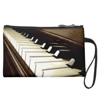 PIANO KEYS Music-Lover's Keyboard design Suede Wristlet