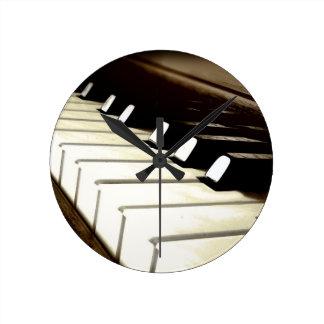 Piano Keys Music Lover's Wall Clock