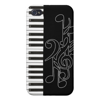 Piano Keys Music Notes Case for Apple iPhone 4