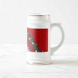 Piano Keys Music Notes Grunge Floral Swirls Coffee Mug