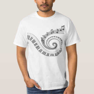 Piano Keys Music Notes T-shirt