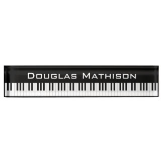 Piano Keys Nameplates