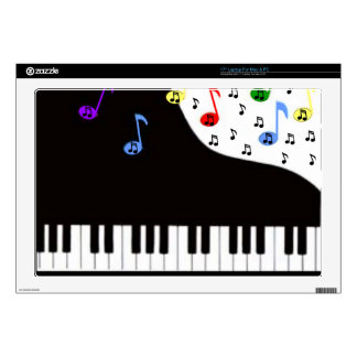 Piano Keys Notes Decals For Laptops