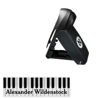 Piano Keys Optional Custom Name Pocket Stamp