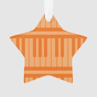Piano Keys Orange Pattern