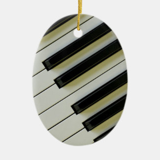 Piano Keys Oval Pendant Ornament