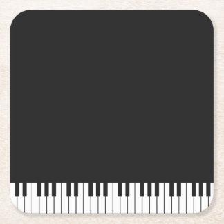 Piano Keys Paper Coasters