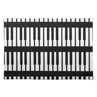 Piano Keys Pattern Cloth Placemat