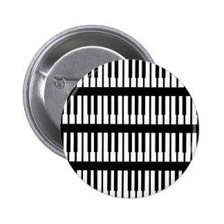 Piano Keys Pattern Pinback Buttons
