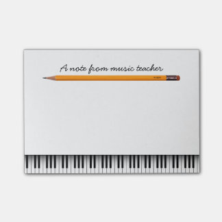Piano Keys & Pencil Music Teacher Post-it Notes