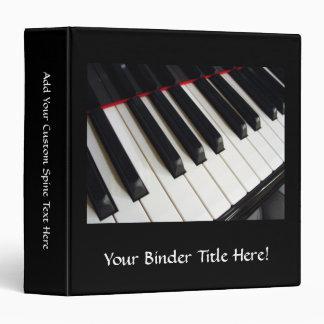 Piano Keys Photograph 3 Ring Binders