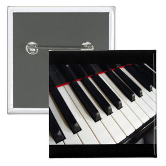 Piano Keys Photograph Pinback Buttons