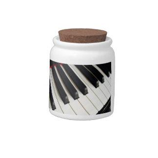 Piano Keys Photograph Candy Dish