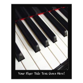 Piano Keys Photograph Flyer