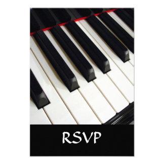 Piano Keys Photograph Custom Invite