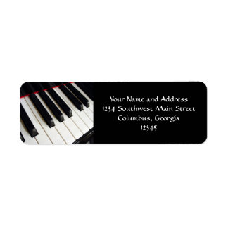Piano Keys Photograph Return Address Labels