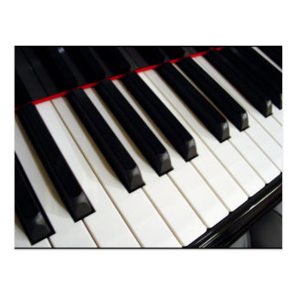 Piano Keys Photograph Postcard
